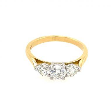 Diamond 3 Stone 18ct Ring