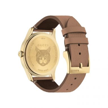 Gucci G-Timeless Gold Tone PVD Watch 38mm