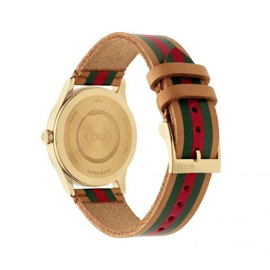 Gucci G-Timeless Tan Leather Strap Watch 38mm