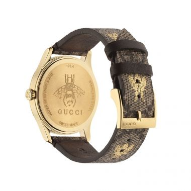 Gucci Timeless Gold Tone PVD Watch 38mm