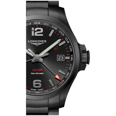 Longines Conquest V.H.P GMT Black PVD 43mm