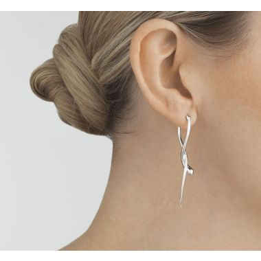 Georg Jensen Mercy Long Earrings, Sterling Silver