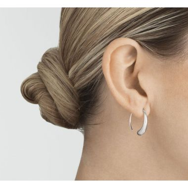 Georg Jensen Mercy Large Earhoop, Sterling Silver