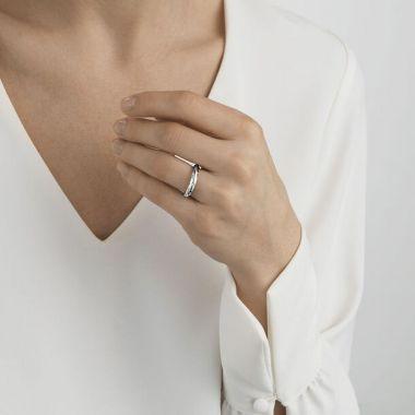 Georg Jensen Offspring Ring, Silver with Diamonds
