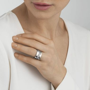 Georg Jensen Fusion Centre Ring with Diamonds, 18ct