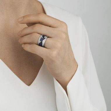 Georg Jensen Fusion Centre Ring with Sapphires, 18ct