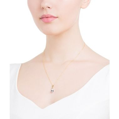 Mikimoto Akoya Pearl and Diamond Pendant in Yellow Gold