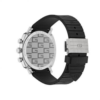 Gucci Grip Black Chronogaph Rubber Watch 40mm