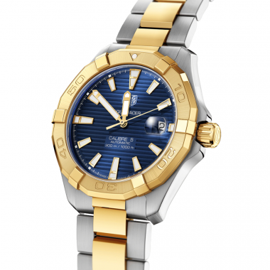 Tag Heuer Aquaracer Calibre 5 Two Tone Blue 41mm