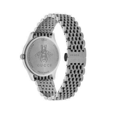 Gucci G-Timless Bee Motif Silver 36mm