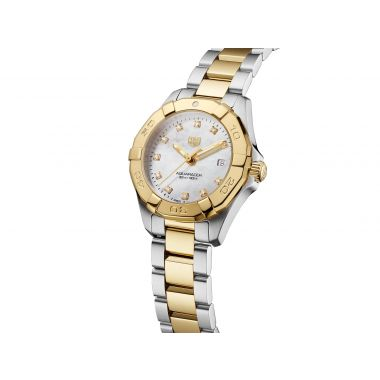 Tag Heuer Aquaracer Ladies Steel & Yellow Diamond Dial 27mm WBD1422.BB0321