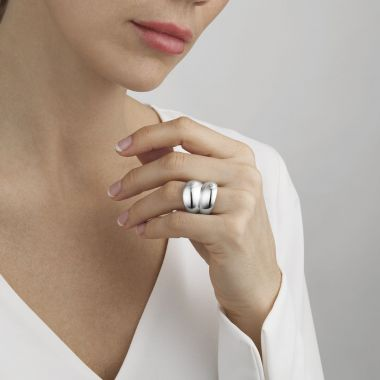 Georg Jensen Curve Ring, Sterling Silver