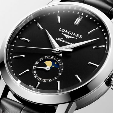 "Longines Heritage ""The Longines 1832"" Automatic Black 40mm"