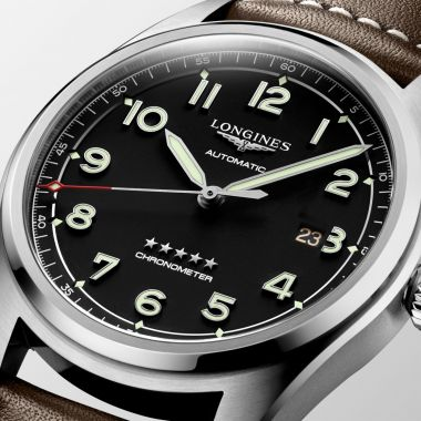 Longines Spirit Automatic Chronometer Brown Strap 42mm