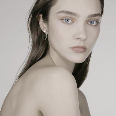Shaun Leane Silver Cherry Blossom Pearl Talon Earrings
