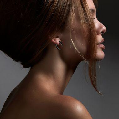 Shaun Leane Silver Black Rhodium Talon Earrings